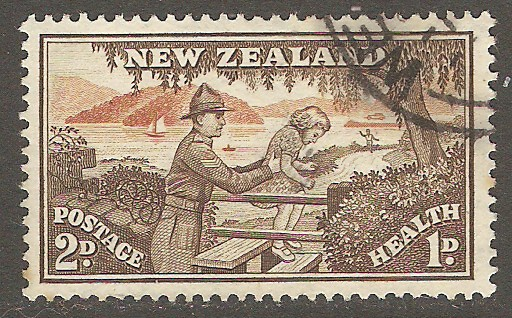 New Zealand Scott B29 Used
